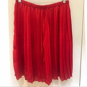 Joe Fresh red pleated skirt